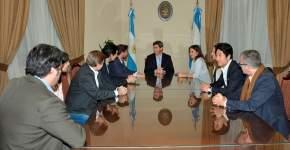 Uñac recibió la visita del secretario de Cultura y Creatividad de la Nación, Enrique Avogadro y del secretario de Integración Federal y Cooperación Internacional, Iván Petrella