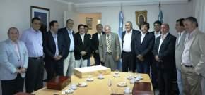 El vicegobernador Marcelo Lima con su par de Catamarca, Octavio Gutiérrez quien concurrió junto a una delegación de senadores de aquella provincia