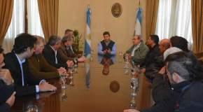 Dirigentes del fútbol sanjuanino visitaron al gobernador Uñac