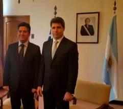 El gobernador Sergio Uñac con el intendente regional Claudio Ibañez