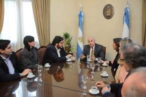 En Casa de Gobierno, el vicegobernador en ejercicio del Poder Ejecutivo, Marcelo Lima, junto a las autoridades de Cultura de la provincia, recibió al ministro Pablo Avelluto