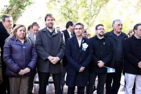 Las autoridades de la Municipalidad de la Ciudad de San Juan participaron del festejo patrio