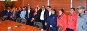 En el día del Bombero Voluntario firmaron convenio el Ministerio de Gobierno con la Federación Sanjuanina de Bomberos Voluntarios