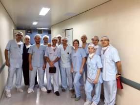 Los integrantes del Equipo de Trasplantes tras salir del quirófano