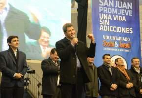 El gobernador Sergio Uñac en el cierre del Foro Participativo Juvenil en Prevención de Adicciones