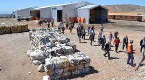 Materiales recuperados para la venta, en el Parque de Tecnologías Ambientales