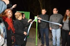 El intendente Martín y vecinos de Rivadavia inauguran el nuevo alumbrado público