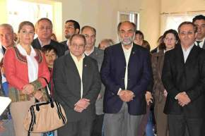 """Acto en el Bº Dorrego, en Concepción, presentando al """"Equipo de Vigilancia Municipal para el Control de Vectores"""""""