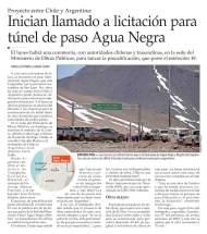 Medios chilenos reflejaron el domingo 16 la reunión por el túnel