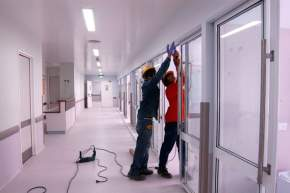 Avanzan los trabajos en los Sectores I y IV del Hospital Rawson