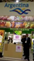 Stand de Vitícola Cuyo en la Feria Internacional Food & Hotel China