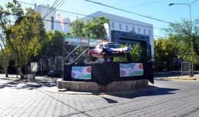 """Exhiben el clásico """"Buggy"""" que disputó en el Dakar"""