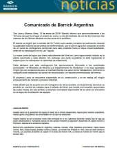 Comunicado de BARRICK