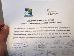Manifestación del encuentro de empresarios argentinos y chilenos