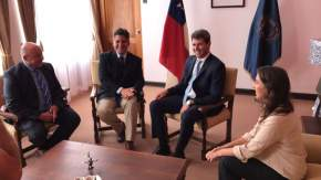 Gobernador Uñac con Intendente Claudio Ibañez, diputado provincial Pablo García Nieto y ministra de Turismo Claudia Grynszpan