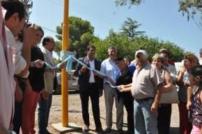 Autoridades de Rawson y Pocito inauguran el sistema de semáforos