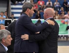El gobernador Uñac con el secretario de Deporte de la Nación, Carlos Mac Allister