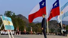 Macri colocó una ofrenda floral ante el monumento de la Batalla de Chabuco