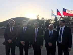 Uñac y Lima con el senador Cobos y funcionarios