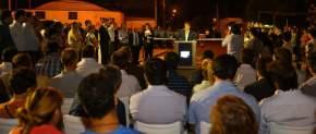 Gobernador Uñac inaugurando más de 7 km de repavimentación de calles de Capital