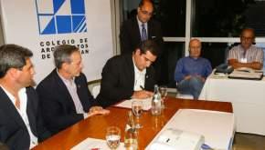 Firma el convenio para el diseño de la Terminal de Ómnibus