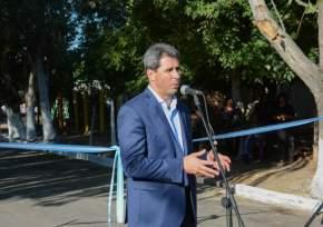 El gobernador Uñac en 25 de Mayo
