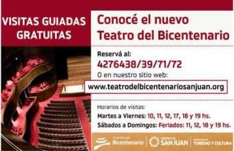 Visitas Guiadas-Teatro del Bicentenario