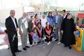Visita al CEDI en el barrio Huazihul, departamento Rivadavia, gestionado por las hermanas de la congregación del Sagrado Corazón del Verbo Encarnado