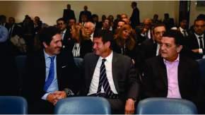 En primera fila, los jueces federales Sebastián Casanello, Julián Ercolini y Luis Rodríguez
