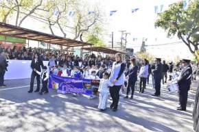 Desfile cívico-militar por el 455 aniversario de la Fundación de San Juan