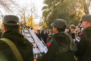 Entonan el Himno Nacional Argentino