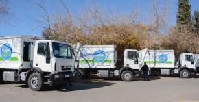 Entregaron 18 camiones recolectores de residuos a los departamentos