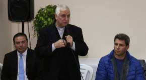 Monseñor Lozano en el Centro de Rehabilitación de Adicciones San Benito