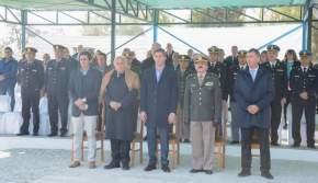 Autoridades en el 79º aniversario de Gendarmería Nacional