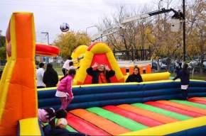Castillos inflables y juegos para festejar el Día del Niño