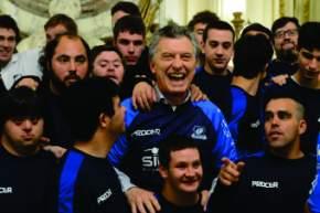 Macri recibió al seleccionado nacional de rugby inclusivo que participará del Mundial