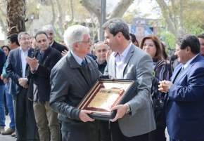 Distinguieron la labor de Lucio Gómez en favor de la forestación de la provincia