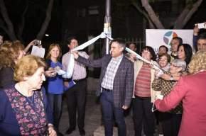 El intendente Franco Aranda inauguró obra de repotenciación de iluminación en  calle Catamarca del Bº San Martín