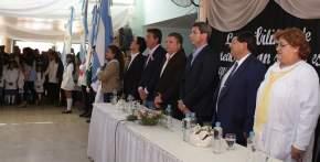 Sergio Uñac visitó el departamento de Jáchal para inaugurar obras de las escuelas Marcos Sastre y Alejandro Fleming