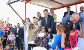 Inauguración del Barrio Valle Grande, en Rawson, donde entregaron 278 viviendas