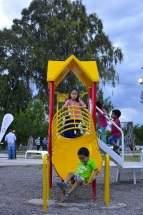 Inauguraron refacciones, nuevos juegos infantiles y diversas obras en la Plaza Distéfano