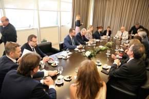 """El vicegobernador Marcelo Lima en ejercicio del P.Ejecutivo, presentó a la misión comercial inversa """"San Juan Conecta Polonia"""""""