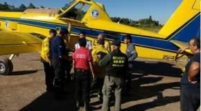 Llegó esta tarde el primero de los aviones hidrantes mandados desde la Nación