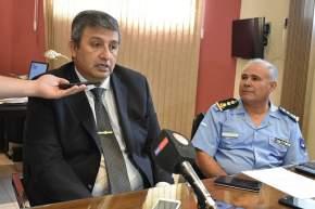 Jefe y Subjefe de la Policía de San Juan, Luis Walter Martínez y José Luis Morales