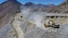 Escombrera Cerro Amarillo de la empresa minera Los Pelambres