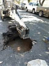 Municipalidad de la Ciudad de San Juan reparará el pavimento dañado por rotura de caño de agua